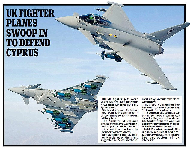 UK fighter planes swoop in to defend Cyprus