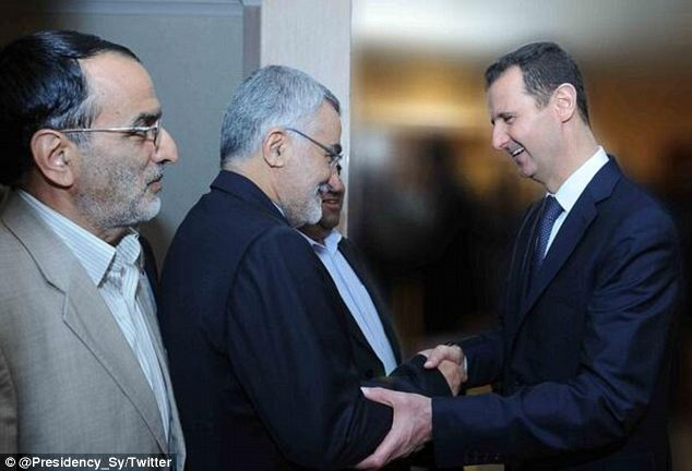 On an account dubbed 'the official Twitter account for the Presidency of the Syrian,' a picture was posted early Sunday of Assad meeting with the Iranian national security committee