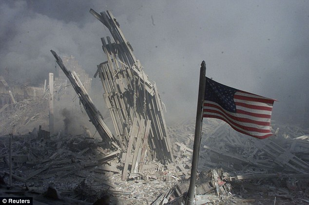 Missing: The so-called 'Ground Zero Flag' has not been seen since the night of September 11, 2001