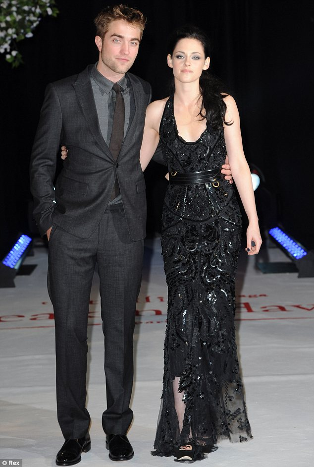 Happier times: Kristen and her former boyfriend Robert Pattinson, who broke up with her for good in July after realising he couldn't get over her betrayal of him last year
