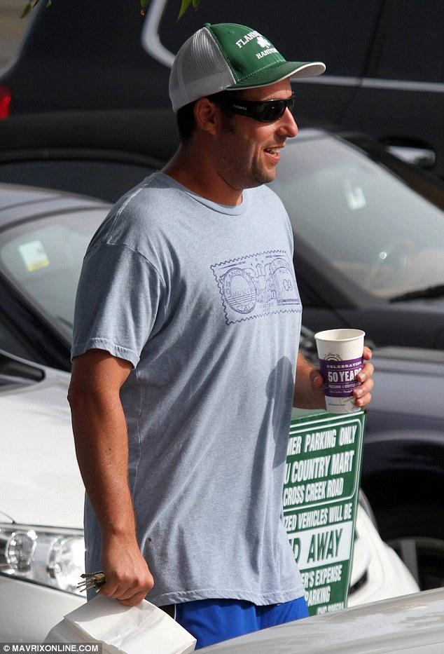 Grabbing a bite: Adam was later seen grabbing a coffee and a snack in Malibu