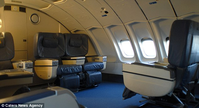 Some parts of the aeroplane still resemble the traditional Boeing 747 interior