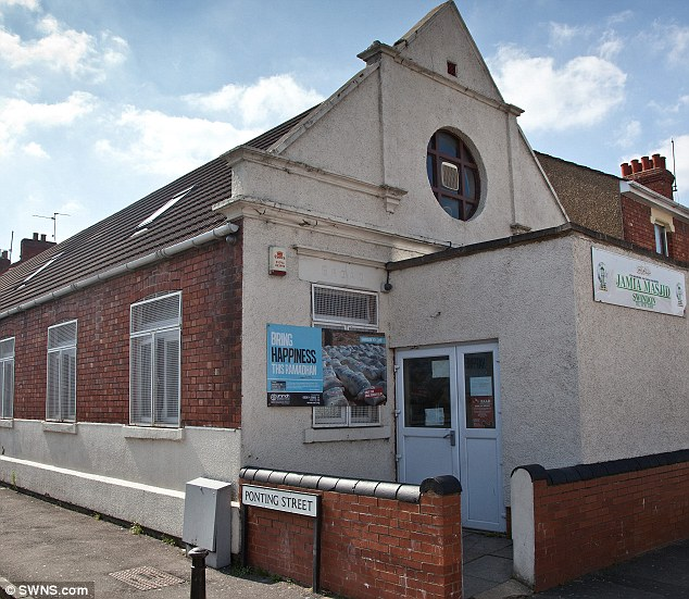 Disagreement: The Broad Street mosque in Swindon, which Lucy Vallender claims stopped her worshipping with women, so she left