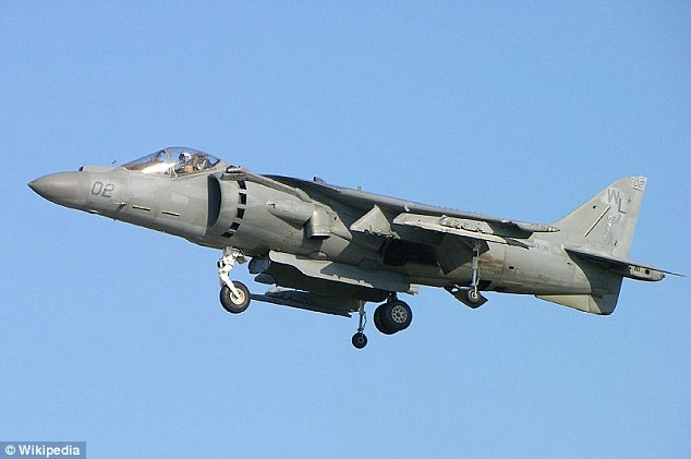 Destroyed: Six Harrier fighter jets were destroyed by the Taliban during their assault on Camp Bastion in September 2012