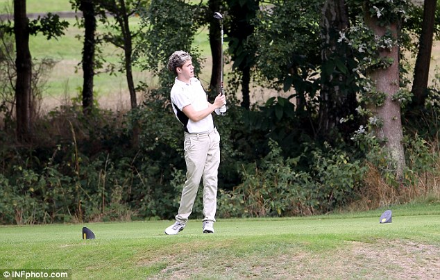 Niall looks good on the golf course