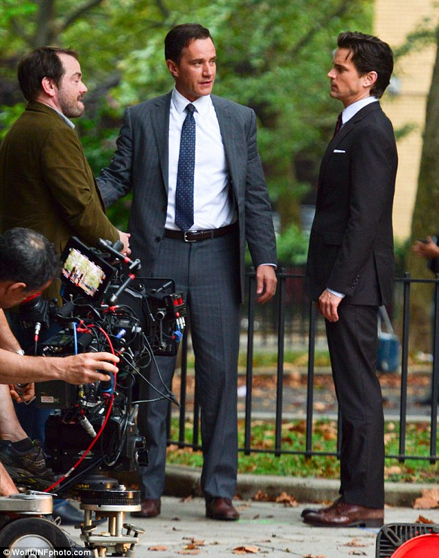 Ready to wear: The 35-year-old actor certainly suited up nicely in this White Collar scenario for his role as con-man Neal