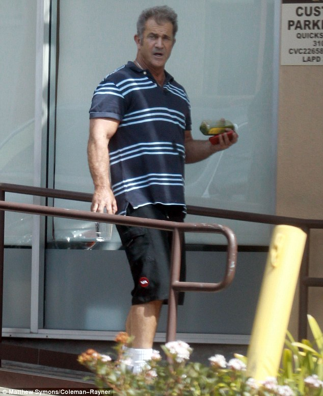 All areas covered: The actor even carried a green shake as he went about his busy day