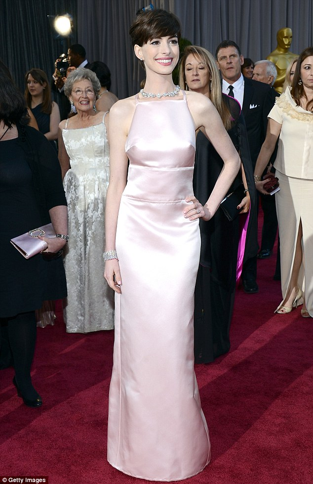A noticeable wrinkle: The Les Miserables star ditched her planned Valentino gown for a pointy Prada at The Oscars in February and lived to rue the day