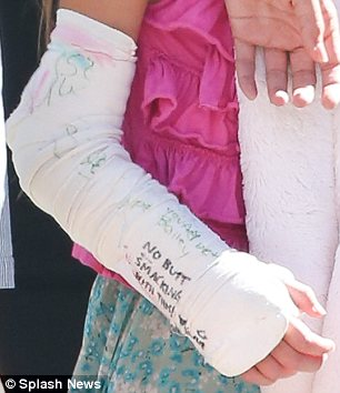 Get well soon: No doubt the kind messages will have cheered Suri up