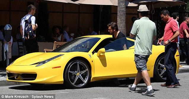 Ferrari fan: The boyfriend of Kourtney Kardashian is already the proud owner of a yellow Ferrari