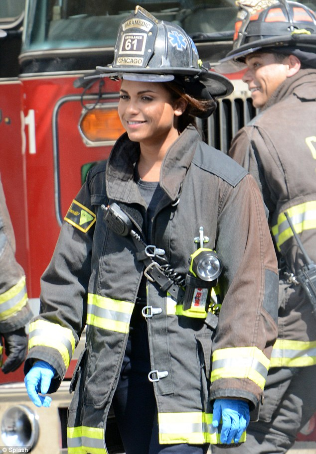 Lending a helping hand: Monica Raymond plays a paramedic on the popular NBC show