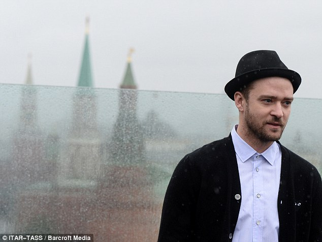 What view? Justin posed in front of Russia's most iconic landmarks, St. Basil's Cathedral in Moscow's Red Square