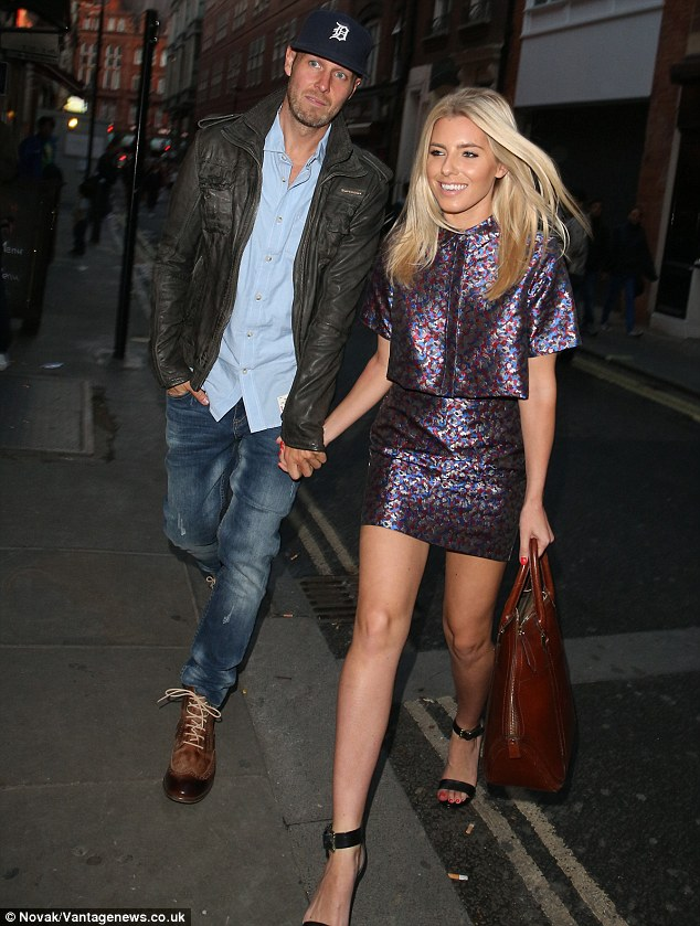 Out on the town: While his girlfriend made sure to dress to impress for their date night, Jordan didn't seem to have matched up in the style stakes