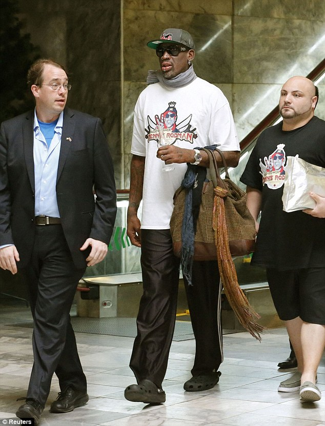 Crocs? Really? Rodman says he doesn't plan to discuss imprisoned American Kenneth Bae