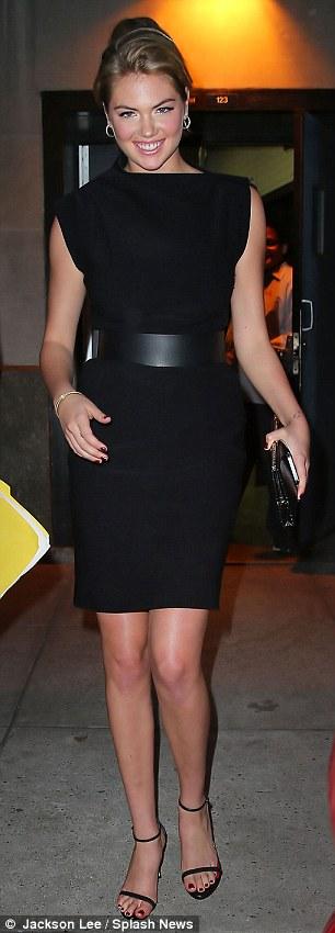 Fashion face-off: Kate Upton (left) and Jessica Biel battled it out for best little black dress