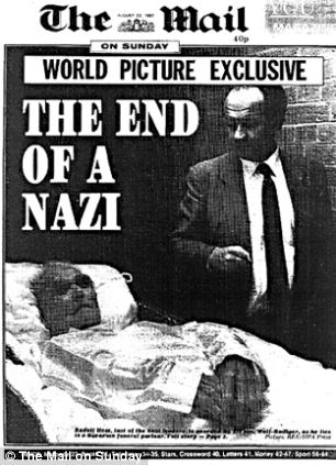 How The Mail on Sunday reported the death of Hess on August 23, 1987