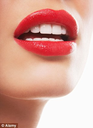 Popular: Lips topped the list after genitalia