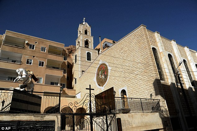 Historic: A church in Maaloula which is on a UNESCO list of tentative world heritage sites