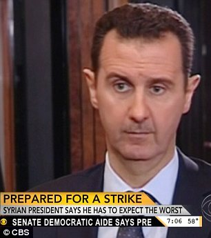 Bashar al-Assad warned that any number of factions in the region could attack U.S. military bases if America strikes Syria in retaliation for 'alleged' chemical weapons use, likely referring to Hezbollah, al-Qaeda and Iran
