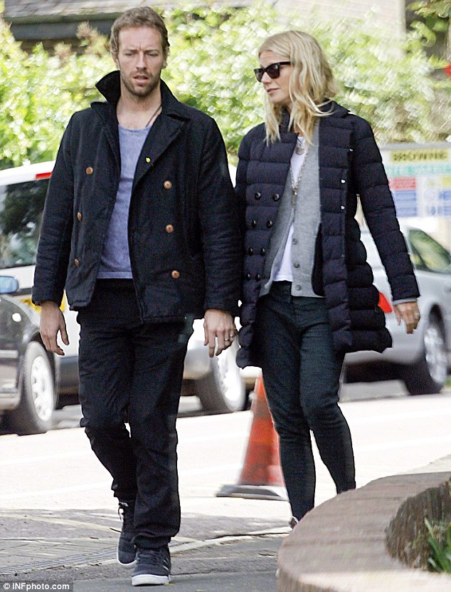 Happy couple: Chris and Gwyneth have been married since 2003