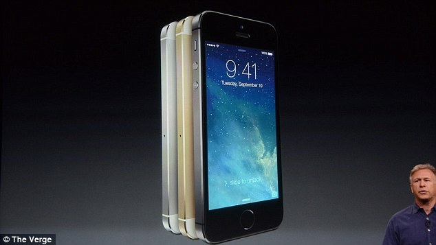 The iPhone 5S is a modified version of the iPhone 5. It comes in three colours - gold, silver and slate - and was Apple's senior vice president of worldwide marketing, Phill Schiller, pictured, claimed it is twice as fast as the current handset