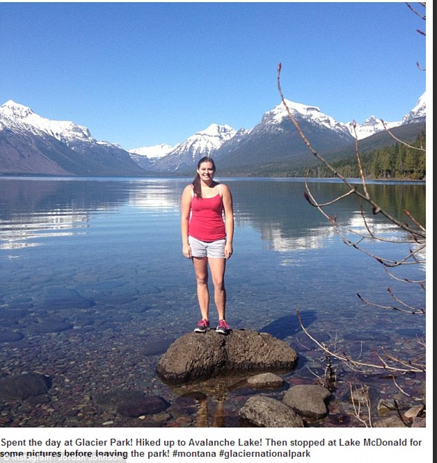 Graham posted this photo of herself exploring Glacier National Park four months ago - just two months prior to her husbands death in the same park