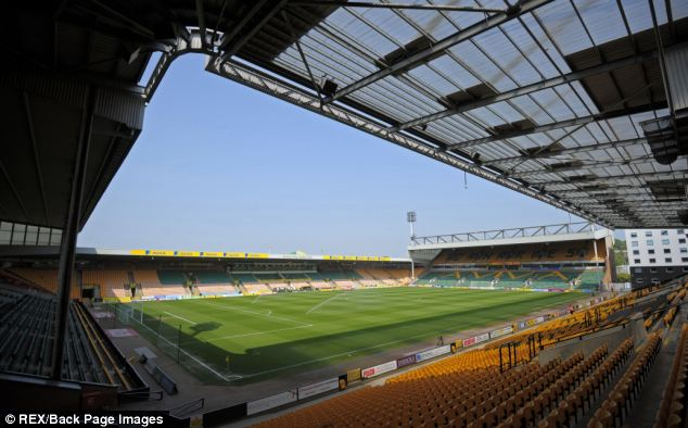 Souter used his links with Norwich City Football Club to invite them to watch matches at Carrow Road, the court heard