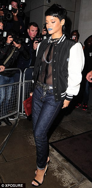 Rihanna leaves party for Cut restaurant