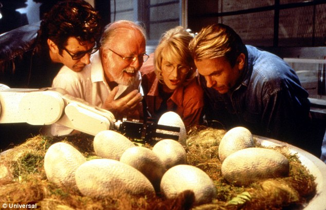 Box office success: The first three Jurassic Park films have taken a combined $1.9billion of box office sales