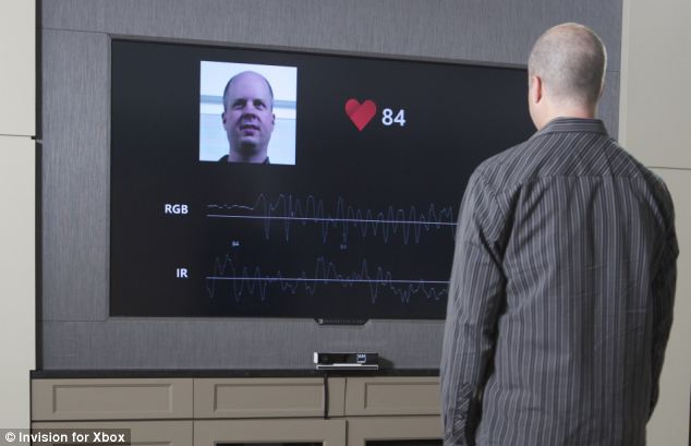 Microsoft's next-generation Kinect sensor is able to detect and monitor a person's heart rate from around four feet away - without touching them.
