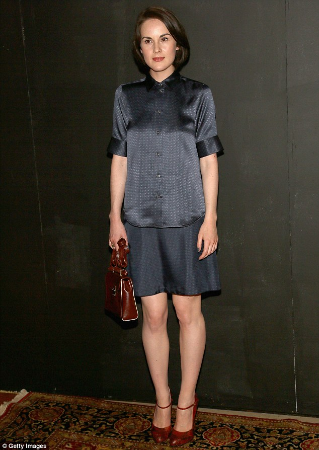 Michelle Dockery At New York Fashion Week Downton Abbey