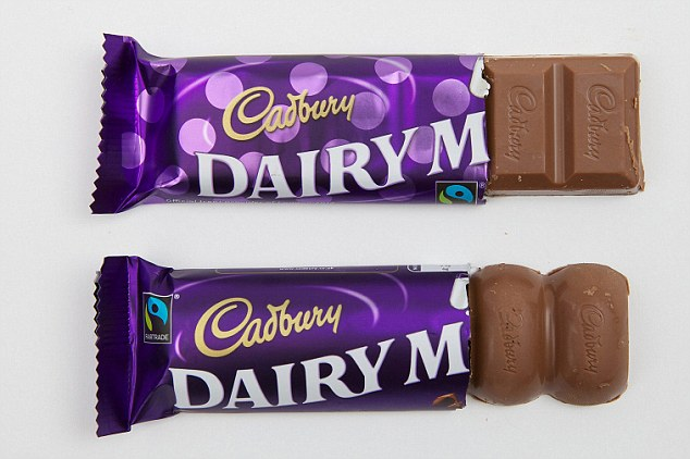 Image result for old and new cadbury's bar shape