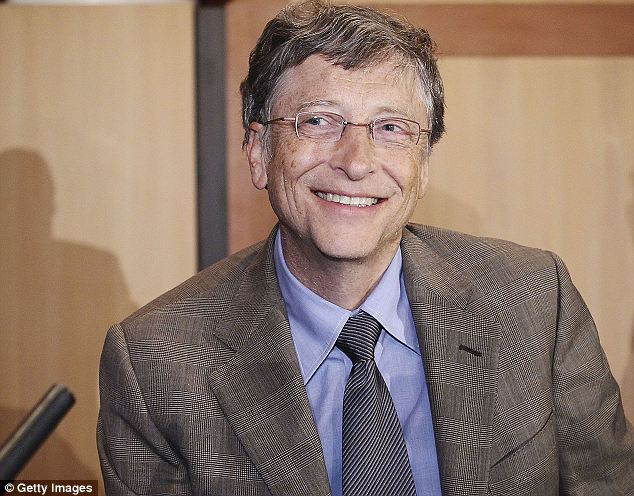 All smiles: Bill Gates is the richest man in the U.S. for the 20th year running, with a net worth of $72 billion