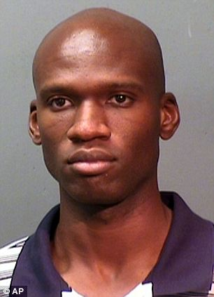 Caught and killed: Aaron Alexis, 34, was identified as the shooter and had 'multiple engagements' with police firing shots at the officers during the shooting spree Monday