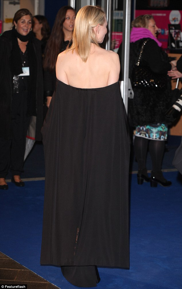 Cate Blanchett Shows Some Skin In Unusual Black Gown At