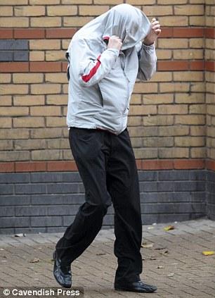 Richard Stewart leaving Bury Magistrates' Court