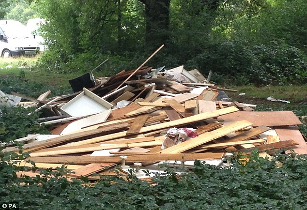 Tooting Common Travellers Leave Huge Pile Of Rubbish After