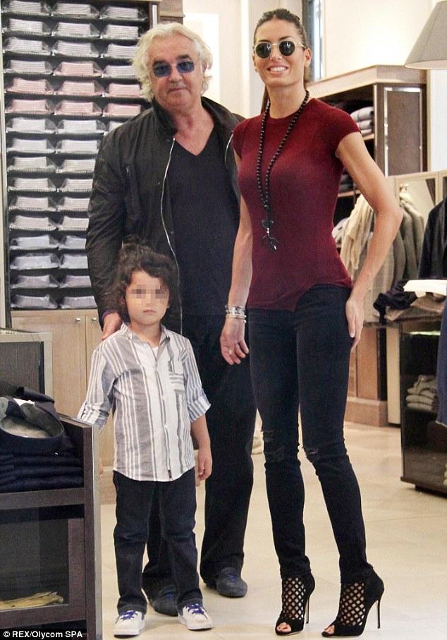 Flavio Briatore takes wife Elisabetta Gregoraci and son
