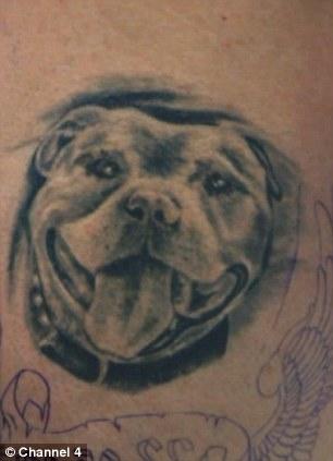 My Tattoo Addiction Swindon bodybuilder Duncan had dead dogs ashes tattooed into his skin