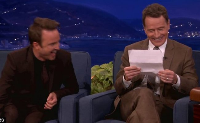Bryan Cranston Reads His Favourite Erotic Fan Mail On