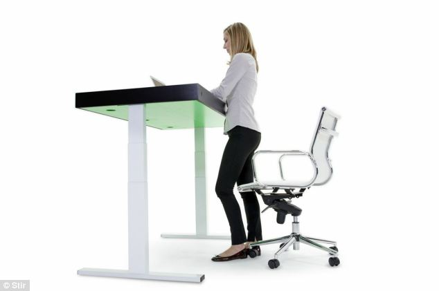 Transforming desk that moves up and down to keep your fit