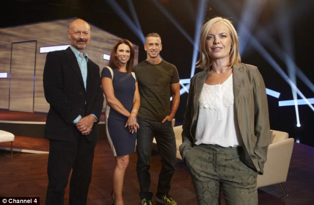 Three sets of couples will take part in the show which also features experts Mariella Phillip Hodson, left, Tracey Cox, centre, and Dan Savage