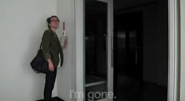 'I'm gone': The video ends with her switching off the light and leaving the office