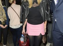 Fearne Cotton leaves Celebrity Juice in a baby pink skirt and with a winning smile | Daily Mail ...
