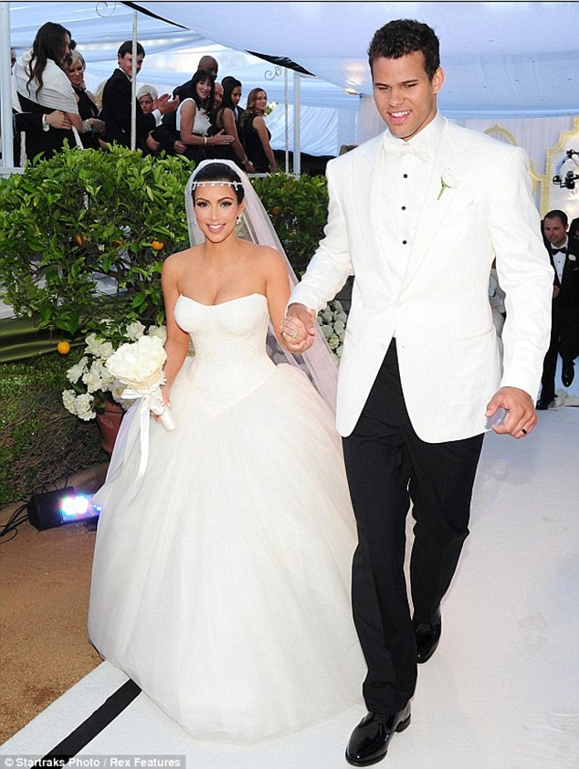 Wedding fail: Kim caused a public outcry after she filed for divorce from her second husband Kris Humpheries after just 72 days of marriage