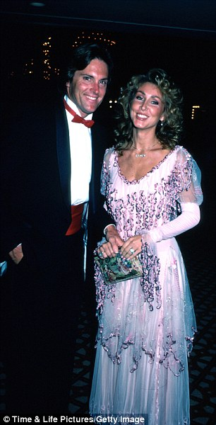 Three times not a charm: Bruce has been down the aisle before and is seen here with his second wife Linda Thompson, who he left his first wife, who was pregnant at the time, for
