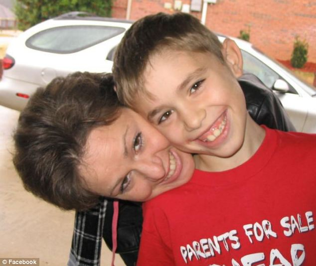 Missed: He is pictured with his mother, Angela, in his younger years. He also leaves behind a brother and sister