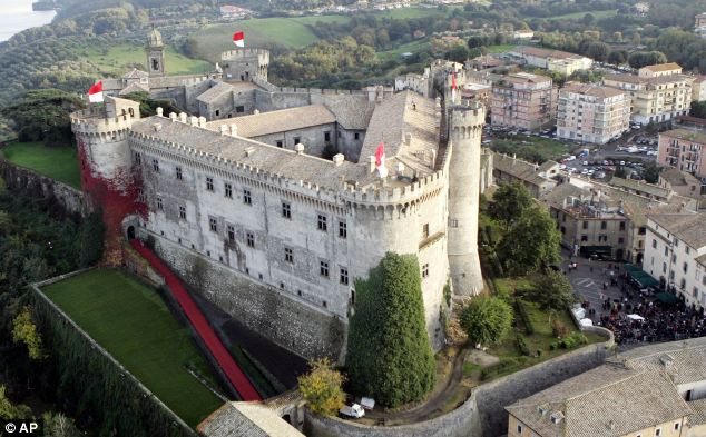 Historic: Orsini Odescalchi castle in the lakeside town of Bracciano, 27 miles from Rome, is up for sale