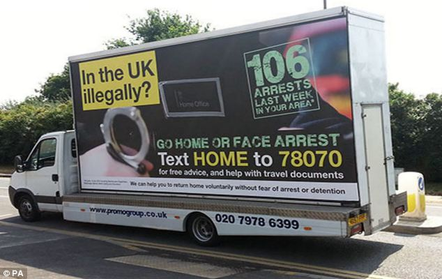 Tough: Mr Harper was the minister who signed off the controversial 'Go Home' ad vans which toured London this summer