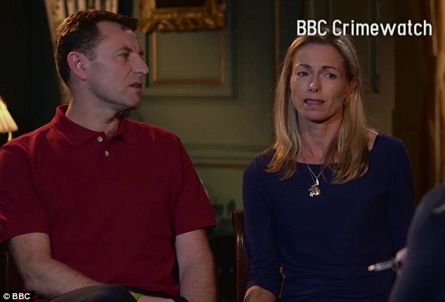 Response: After the couple's appeal on BBC Crimewatch(pictured), a number of callers gave names for the man police believe snatched Madeleine